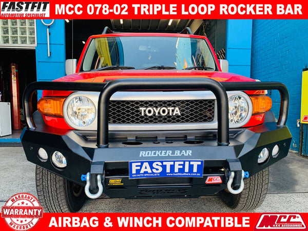 MCC 078-02 Triple Loop Rocker BullBar to suit Toyota FJ Cruiser 03/2011-ON