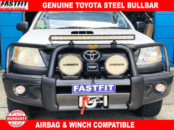 Genuine Toyota Steel Bull Bar to suit Toyota Hilux 150s 03/2005-06/2011