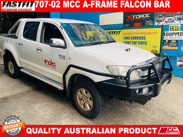 MCC 707-02 A-FRAME Falcon Bull Bar to suit Toyota Hilux 2005