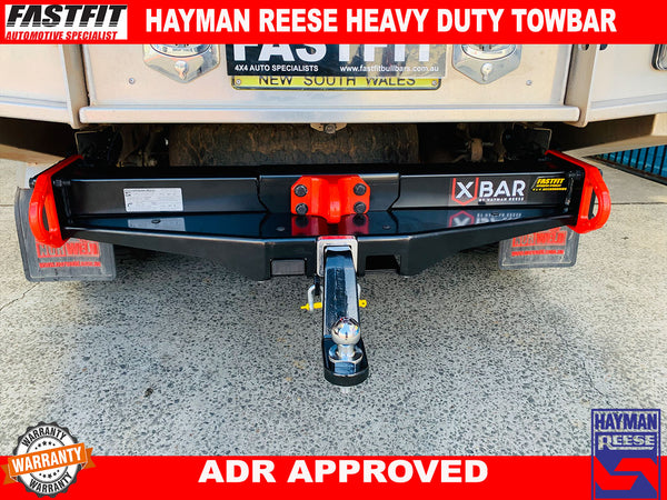Hayman Reese Heavy Duty Towbar to suit TOYOTA HILUX GUN X-BAR C/C 2 BOXES 10/2015-ON