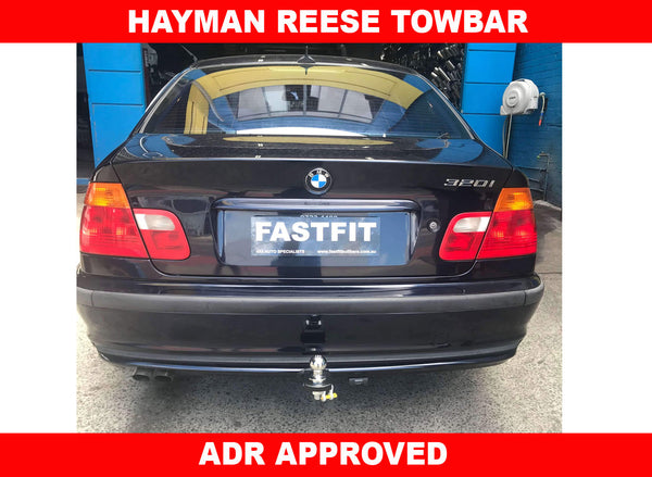 Hayman Reese Tow bar to suit BMW 3 Series Sedan /Wagon E46 with clean bumper cut   8/1998- 4/2005