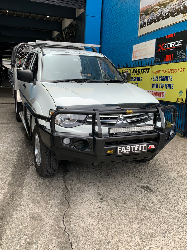 MCC FALCON A-FRAME BULL BAR,SIDE STEP AND SCRUB RAILS TO SUIT ON MITSUBISHI TRITON MN