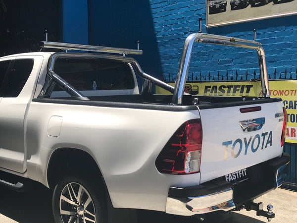 REAR BAR to suit Toyota SpaceCAB Hilux 2015 ON - Custom Removable Rear Bar