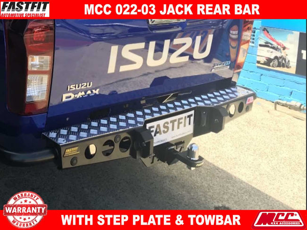 MCC 022-03 Jack Rear Bar with Step Plate to suit ISUZU D-Max 10/2017-ON