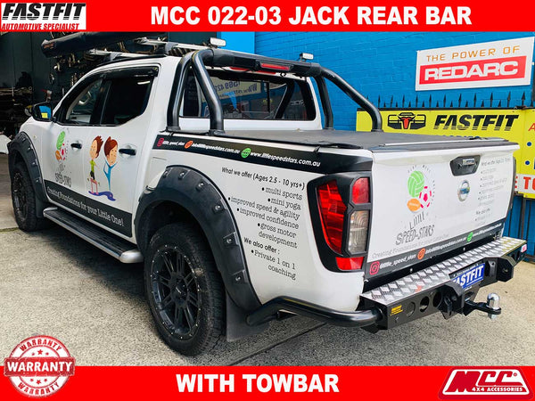 MCC 022-03 Jack Rear Bar with Step Plate to suit NISSAN NAVARA NP300 06/15-ON