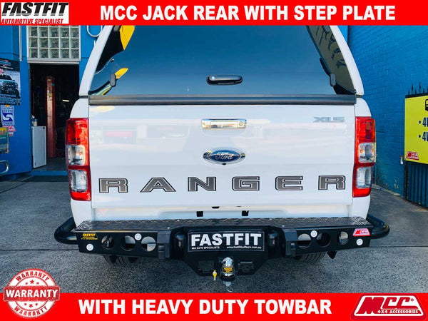 MCC 022-03 Jack Rear Bar with Step Plate to suit Ford Ranger PX MKI 09/2011-07/2015