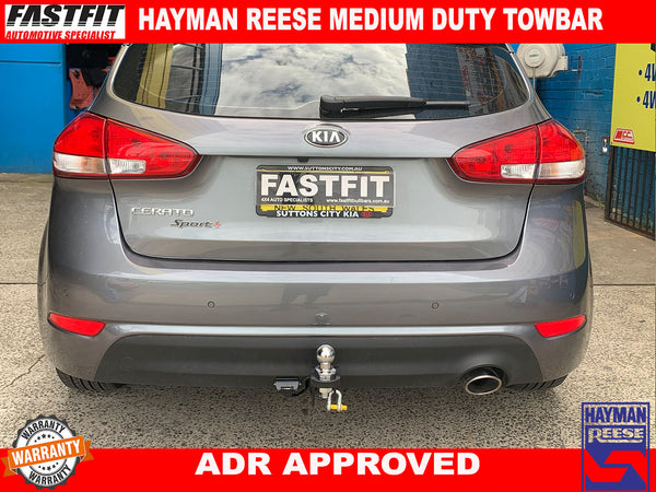 HAYMAN REESE MEDIUM DUTY TOWBAR TO SUIT ON KIA CERATO SPORT