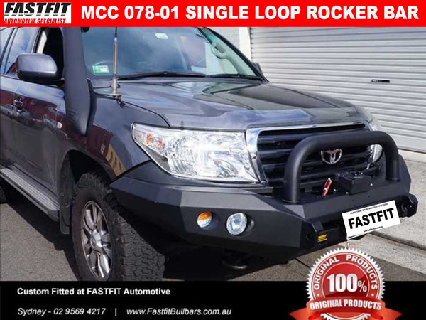 MCC 078-01 Single Loop Rocker BullBar to suit Toyota LandCruiser 100s
