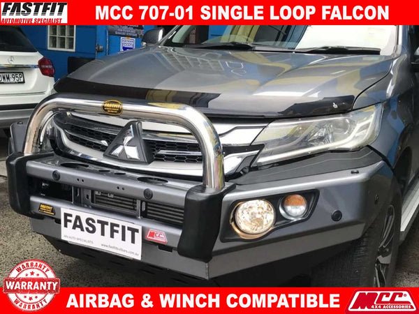 MCC 707-01 Single Loop Falcon BullBar to suit Mitsubishi Pajero Sports 12/2015-ON