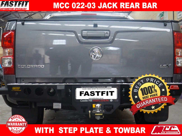 MCC 022-03 Jack Rear Bar with Step Plate (Alloy or Black)to suit Holden Colorado 2017-ON