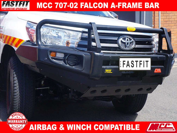 MCC 707-02 Falcon A-Frame BullBar with Under Protection to suit Toyota Hilux 10/2015-ON