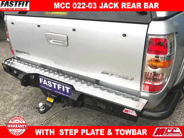 MCC 022-03 Jack Rear Bar with Step Plate to suit Mazda BT50 11/2006-10/2011
