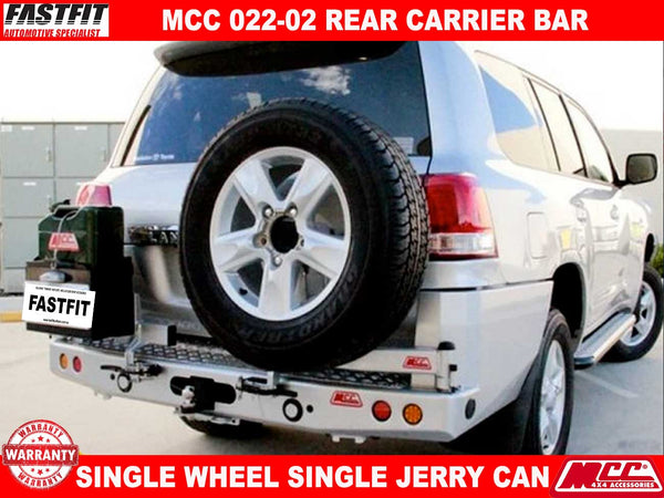 MCC 022-02 Rear Carrier Bar with Single Wheel & Single Jerry Can to suit Toyota LandCruiser 200s 12/2007-09/2015