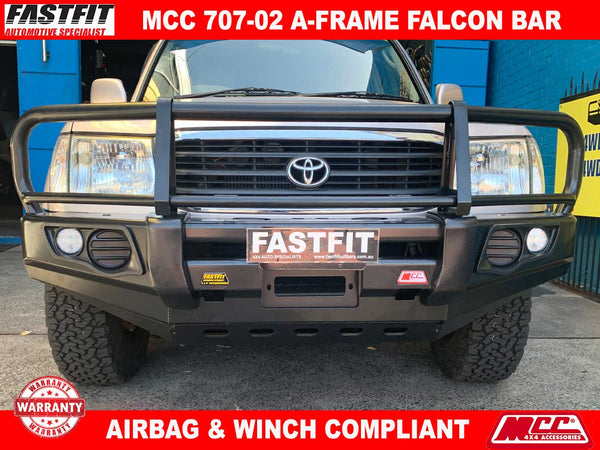 MCC 707-02 A-Frame Falcon Bar with Under Protection to suit Toyota LandCruiser VX100 1998-11/2007
