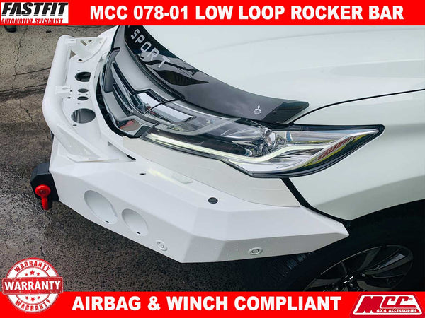 MCC 078-01 Low Loop Rocker Bar to suit Mitsubishi Pajero Sport 12/2015-ON