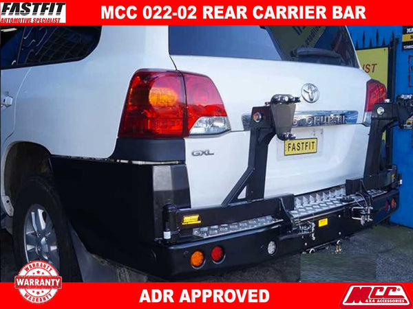 MCC 022-02 Rear Bar with Dual Wheel Carrier to suit Toyota LandCruiser 200s 12/2007-09/2015