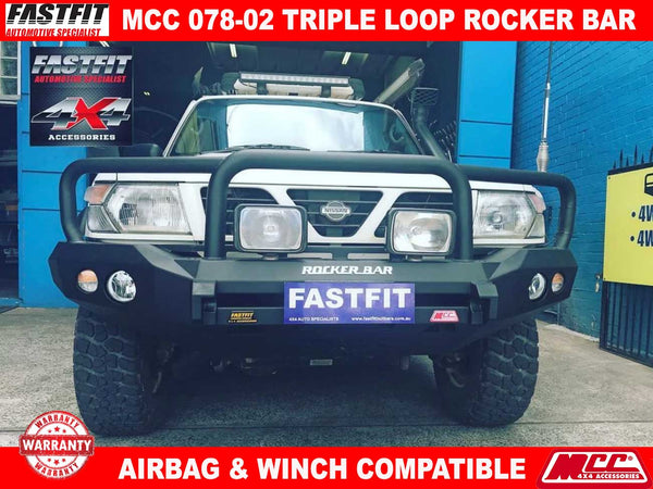 MCC 078-02 Triple Loop Rocker BullBar to suit Nissan PATROL GU Y61 10/2004-2017