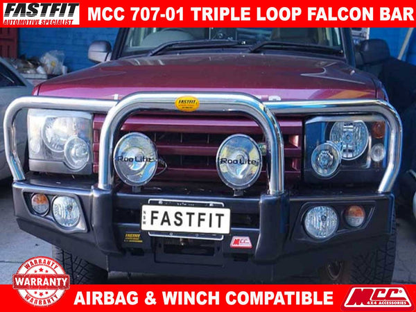 MCC 707-01 Triple Loops Falcon Bull Bar to suit Landrover Discovery I & II 04/1991-04/2005