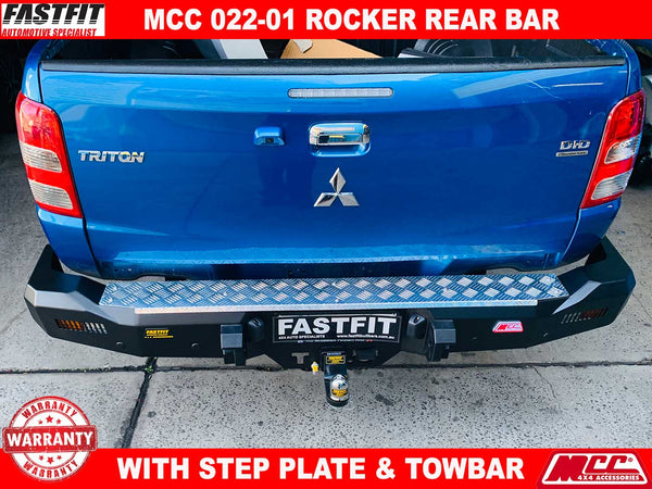 MCC 022-01 Rocker Rear Bar to suit Mitsubishi Triton  MQ 08/2015-ON