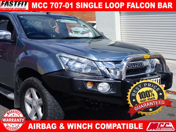 MCC 707-01 Stainless Single Loop Falcon Bullbar to suit ISUZU D-MAX 07/2012-2016