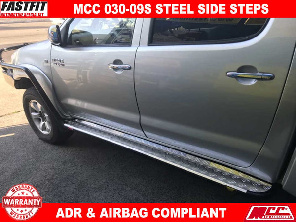 MCC 030-09S Side Steps to suit Toyota Hilux 07/2011-09/2015