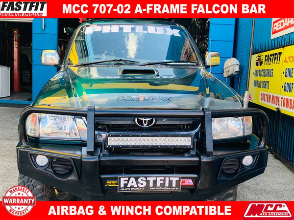 MCC 707-02 Falcon A-Frame Classic Bar with Under Protection to suit Toyota Hilux D4D 1997-03/2005