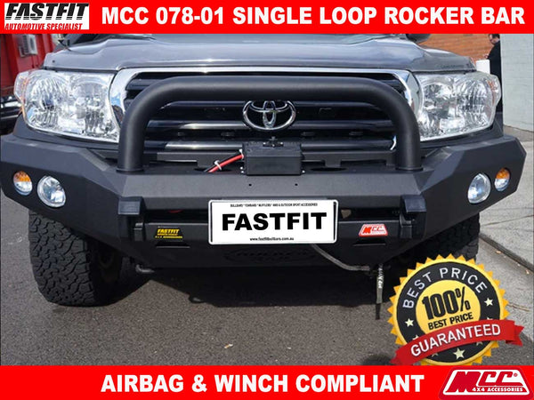 MCC 078-01 Single Loop Rocker BullBar to suit Toyota LandCruiser 200s