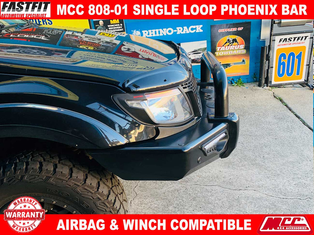 Mcc 808 01 Phoenix Single Loop Bullbar To Suit Ford Ranger