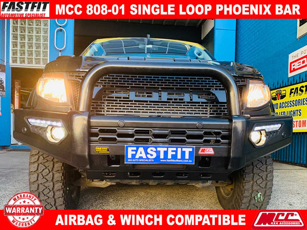 MCC 808-01 Phoenix Single Loop Bullbar to suit Ford Ranger 09/2011-07/2015