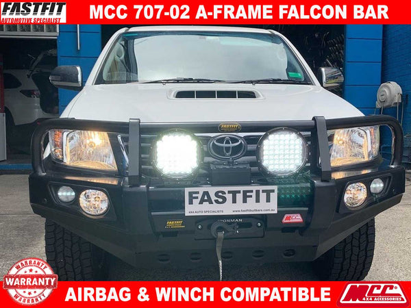 MCC 707-02 Falcon A-Frame BullBar to suit Toyota Hilux 10/2015-ON