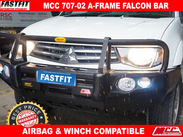 MCC 707-02 Falcon A-Frame Bullbar with Fog Lights to suit Mitsubishi Triton MN 08/2009-08/2015