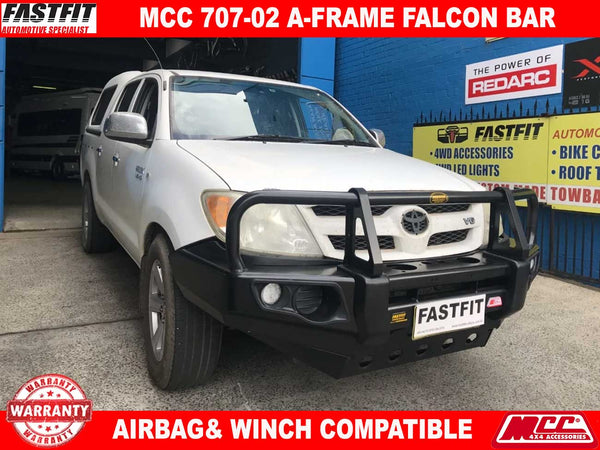 MCC 707-02 Falcon A-Frame BullBar with Under Protection to suit Toyota Hilux 03/2005-06/2011