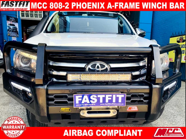 MCC 808-02 Phoenix  A-Frame Winch Bullbar to suit TOYOTA HILUX 10/2015-ON
