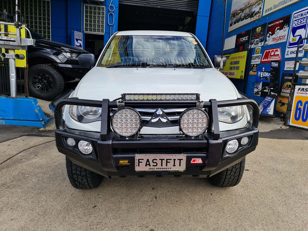 MCC 707-02 Falcon A-Frame Bullbar with Fog Lights to suit Mitsubishi MN Triton 2019