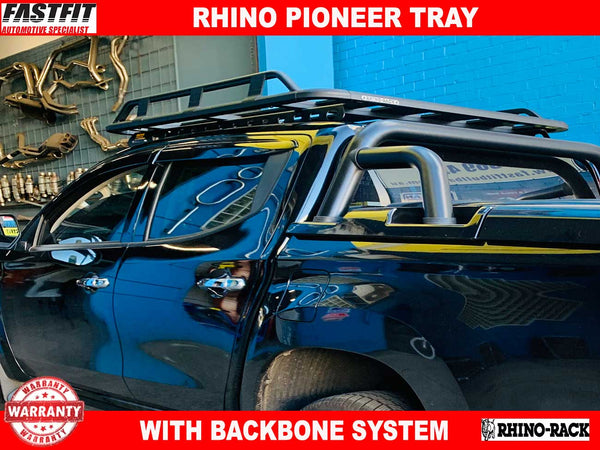 Pioneer Tray (1400mm x 1140mm) with Rhino Rack Backbone System to suit Mitsubishi MR Triton 01/2019-ON