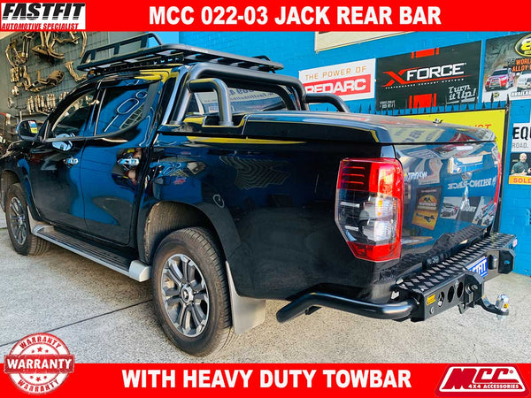 MCC 022-03 Jack Rear Bar with Step Plate to suit Mitsubishi MR Triton 01/2019-ON