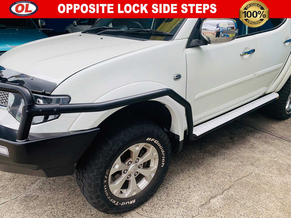 Opposite Lock Side Steps to suit Mitsubishi Triton MN 2010-ON
