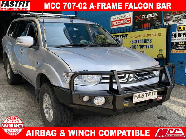 MCC 707-02 Falcon A-frame Bullbar to suit Mitsubishi PB-PC Challenger 12/2009-12/2015