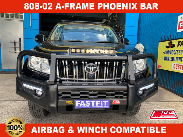 MCC 808-02 Phoenix A-Frame Bullbar to suit Toyota LandCruiser Prado 150 2018-ON