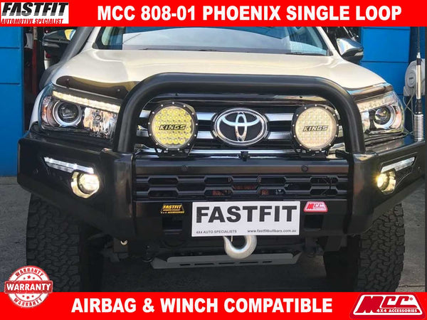 MCC 808-01 Phoenix Single Loop Bullbar to suit Toyota HILUX 10/2015-ON