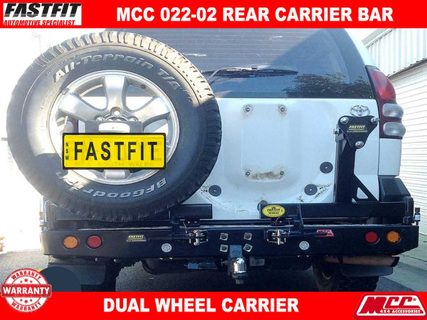 MCC 022-02 Rear Bar with Dual Wheel Carrier to suit Toyota Prado 120s 03/2003-11/2009