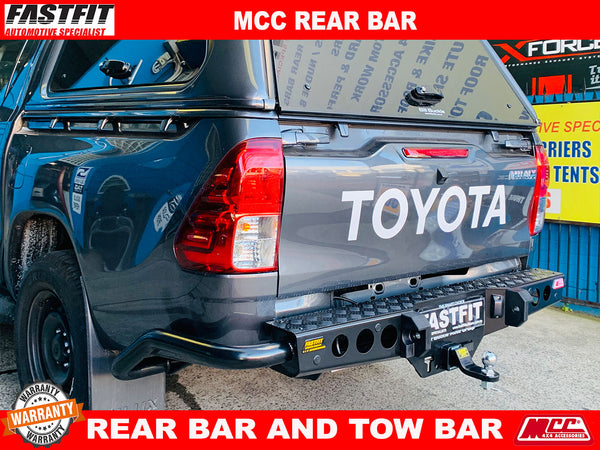 MCC 022-03 Jack Rear Bar with Step Plate  to suit Toyota Hilux