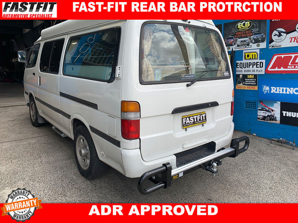 FASTFIT BLACK REAR PROTECTION BAR TO SUIT ON TOYOTA HIACE 1999
