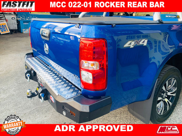 MCC 022-01 Rocker Rear Bar to suit Holden Colorado RG 06/2012-2016