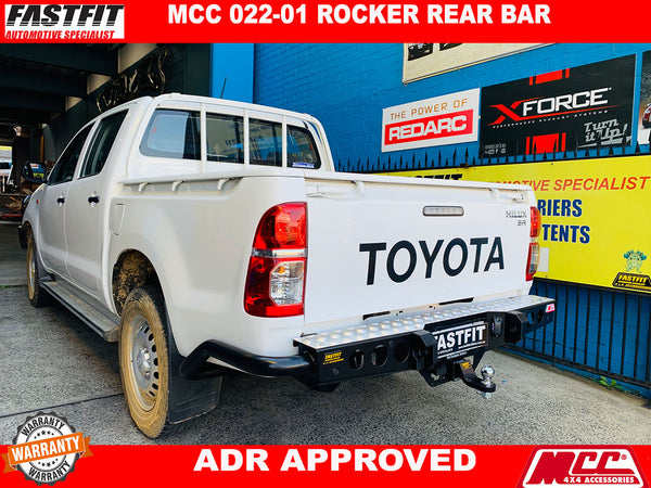 MCC 022-01 ROCKER REAR BAR TO SUIT ON HILUX VIGO