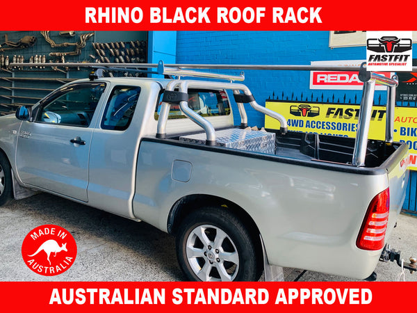 Rhino Black Roof Rack to suit TOYOTA HILUX 2016-ON