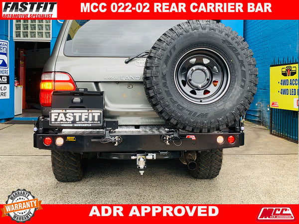 MCC 022-02 Single Wheel & Single Jerry Can Holder to suit Toyota LandCruiser 100s 1998-11/2007