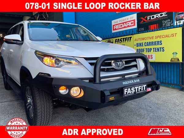 MCC 078-01 Single Loop Rocker Bar to suit TOYOTA FORTUNER 10/2015-ON