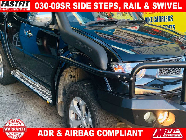 MCC 030-09SR SIDE-STEPS, RAIL & SWIVEL to suit Mitsubishi Pajero Sport 12/2015-ON