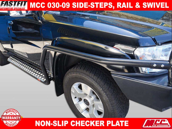 MCC 030-09SR Side Steps & Rails to suit Nissan Patrol GU Y61 10/2004-2017